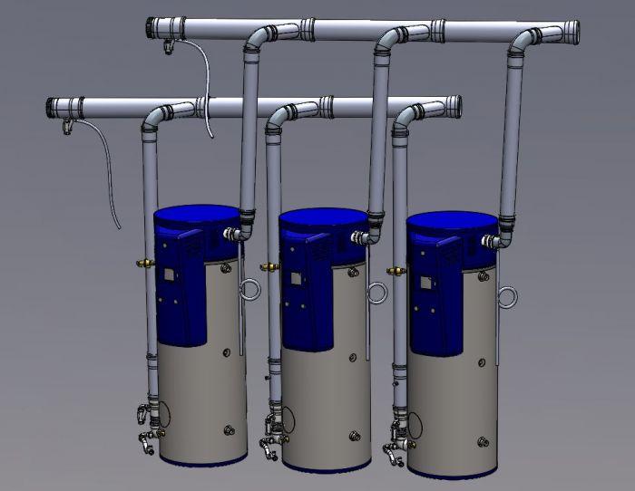 Bock Three Heater Common Vent Kit, OT125-199